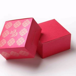 Small Size Cube Box No 6 - Pink -0