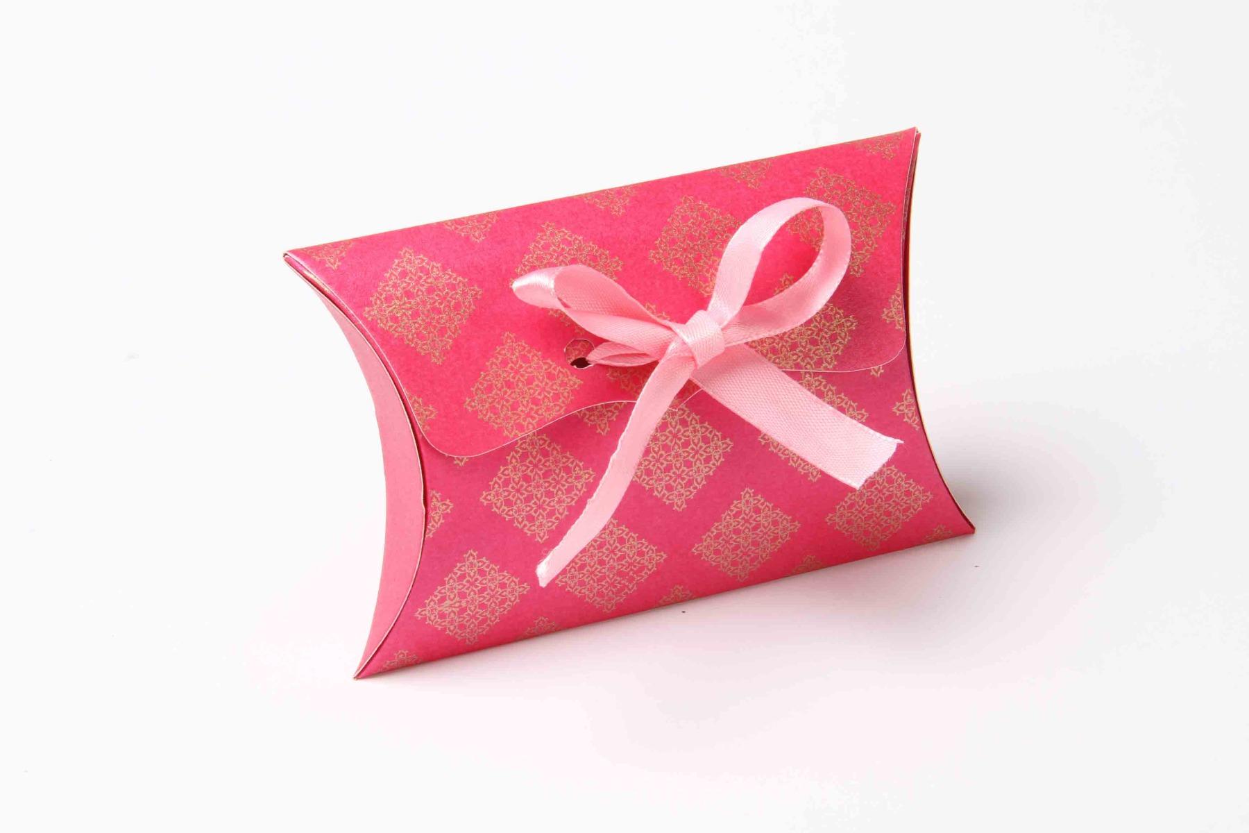 Pillow Favor Box No 9 - Pink-0