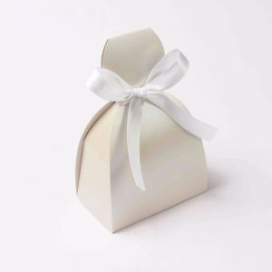 Bridal dress favor box No 7 - White -0