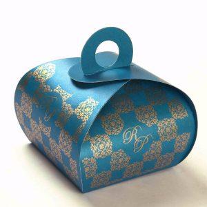 Roll Top Favor Box No 4 - Firoze Blue-0
