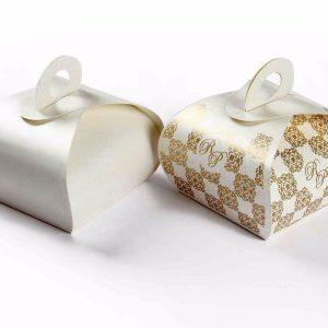 Roll Top Favor Box No 4 - White -0