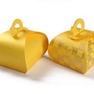 Roll Top Favor Box No 4 - Yellow -0