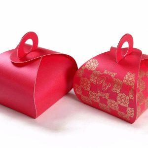 Roll Top Favor Box No 4 - Pink -0