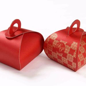 Roll Top Favor Box No 4 - Red-0