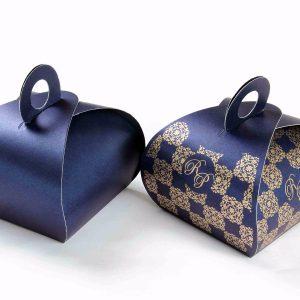 Roll Top Favor Box No 4 - Royal Blue -0