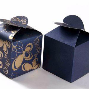 Square Favor Box No - 3 Royal Blue -0