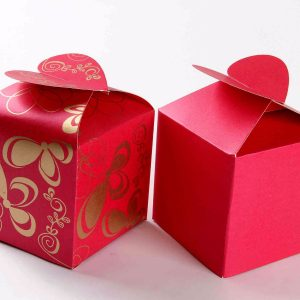 Square Favor Box No - 3 Pink -0