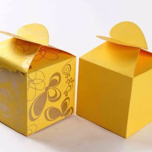 Square Favor Box No - 3 Yellow-0