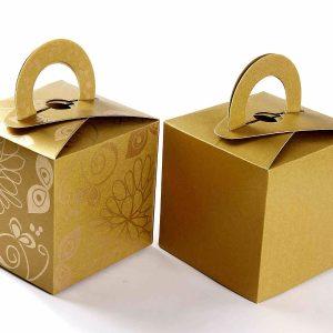 Square Favor Box 2 - Golden -0