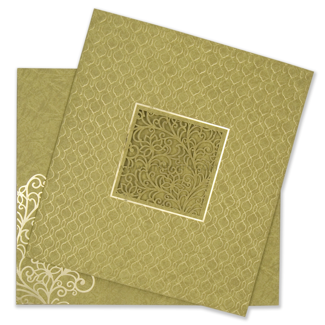 Wedding Card With Laser Cutting Floral Pattern-0