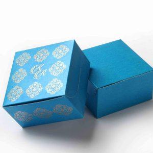 Small Size Cube Box No 6 - Firoze Blue-0