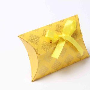 Pillow Favor Box No 9 - Yellow-0