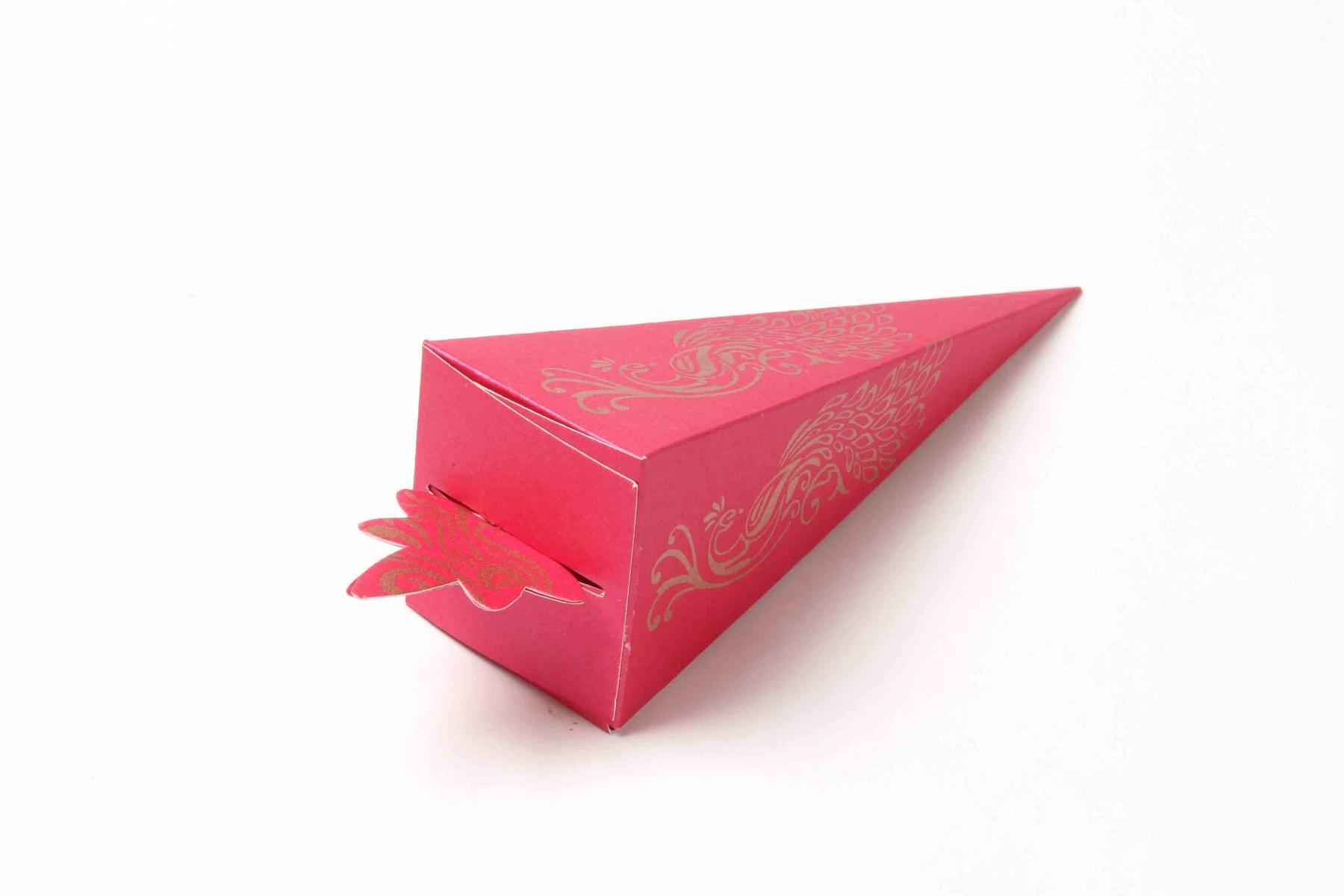 Cone Shaped Favor Box No 8 - Pink-0