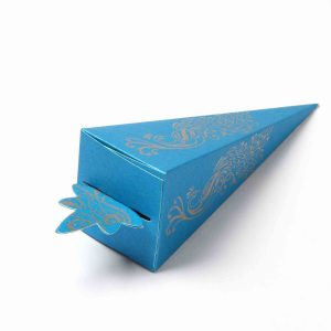 Cone Shaped Favor Box No 8 - Firoze Blue-0