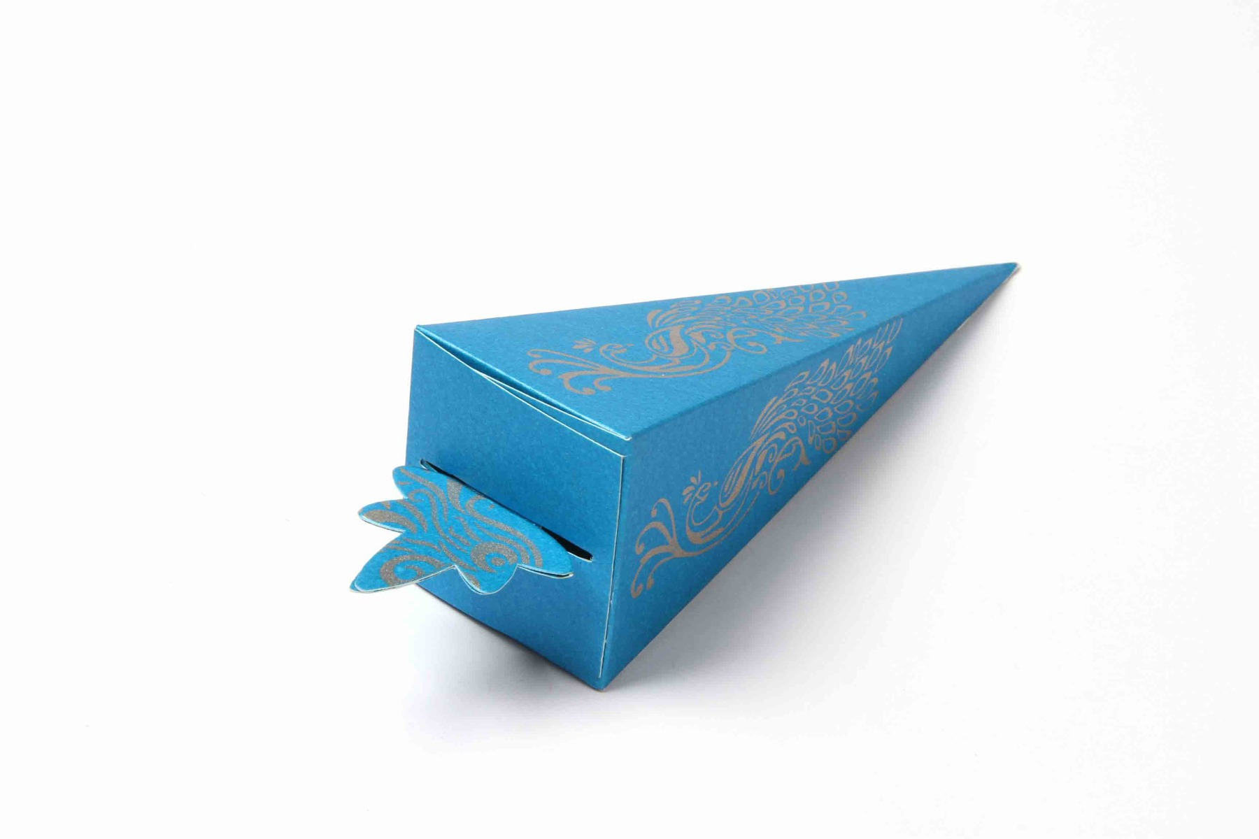 Cone Shaped Favor Box No 8 - Firoze Blue-0
