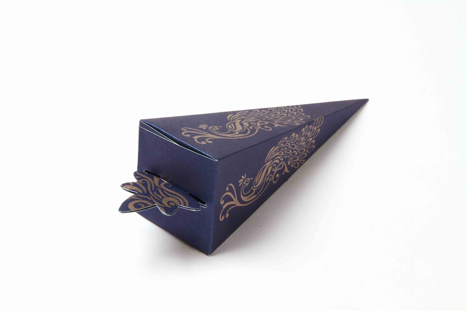 Cone Shaped Favor Box No 8 - Royal Blue-8627