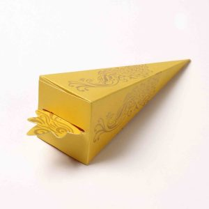 Cone Shaped Favor Box No 8 - Yellow-0