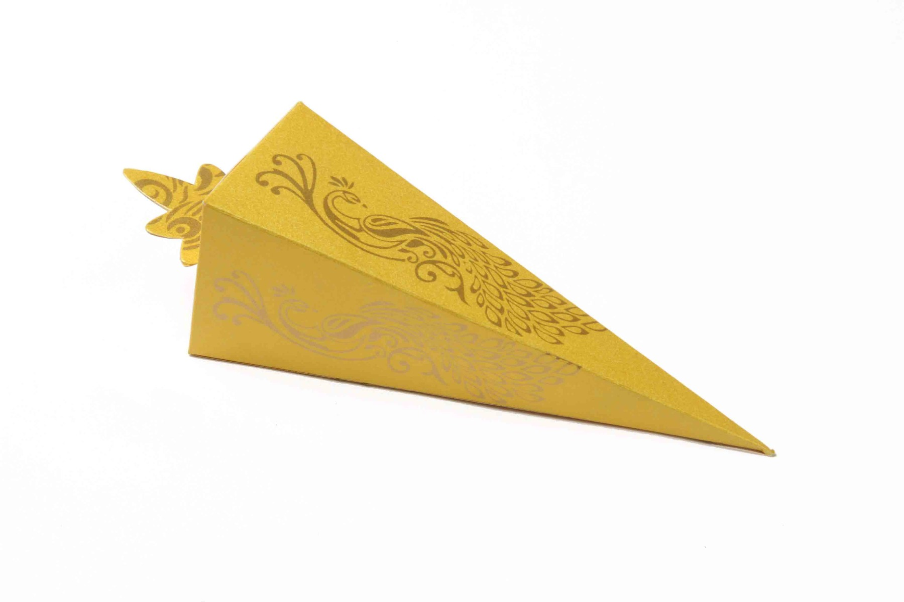Cone Shaped Favor Box No 8 - Yellow-8631