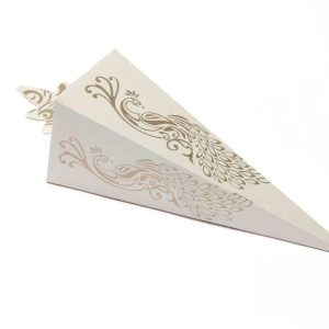 Cone Shaped Favor Box No 8 - White-0