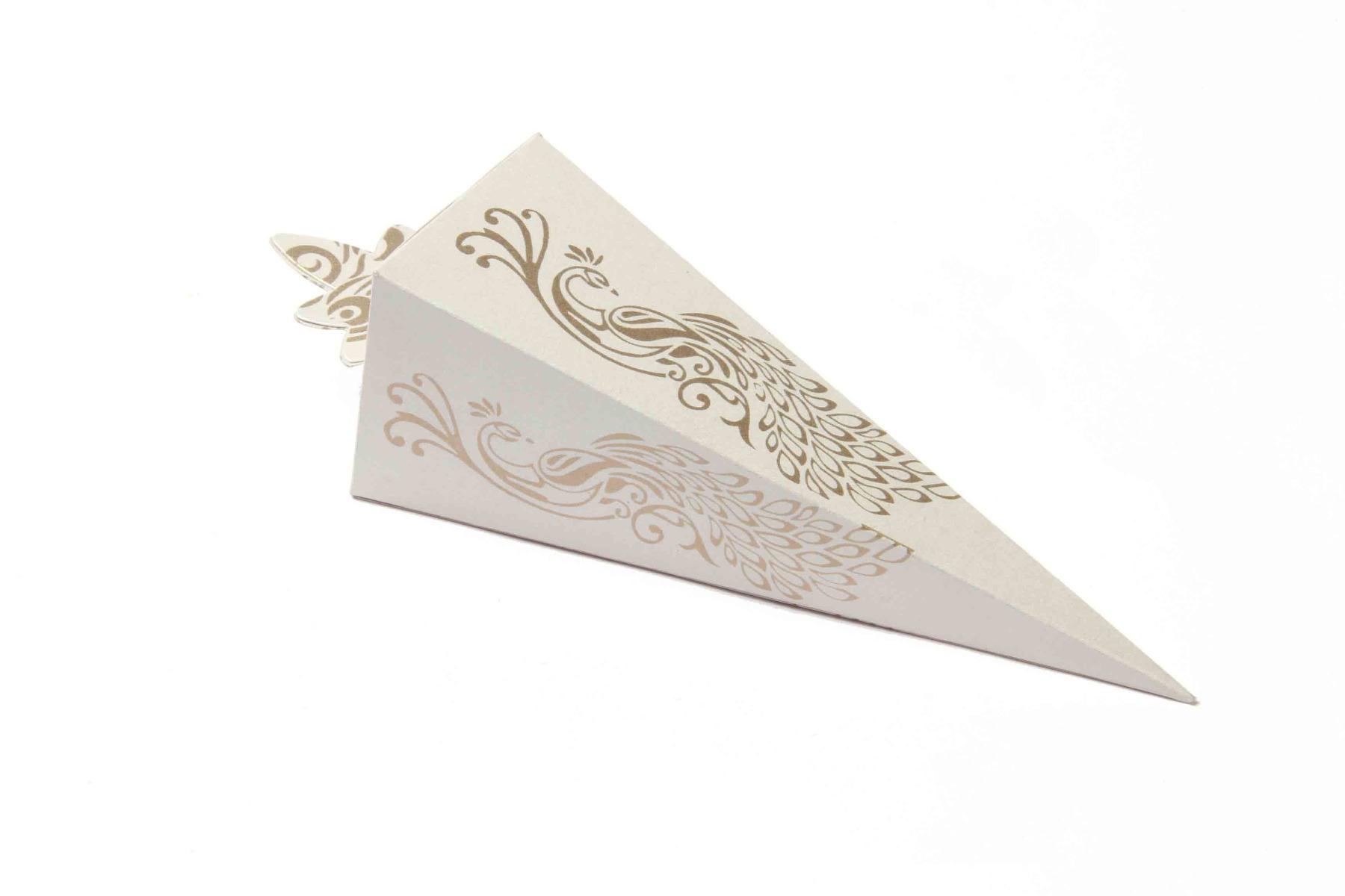 Cone Shaped Favor Box No 8 - White-0