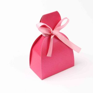 Bridal Dress Favor Box No 7 - Pink-0