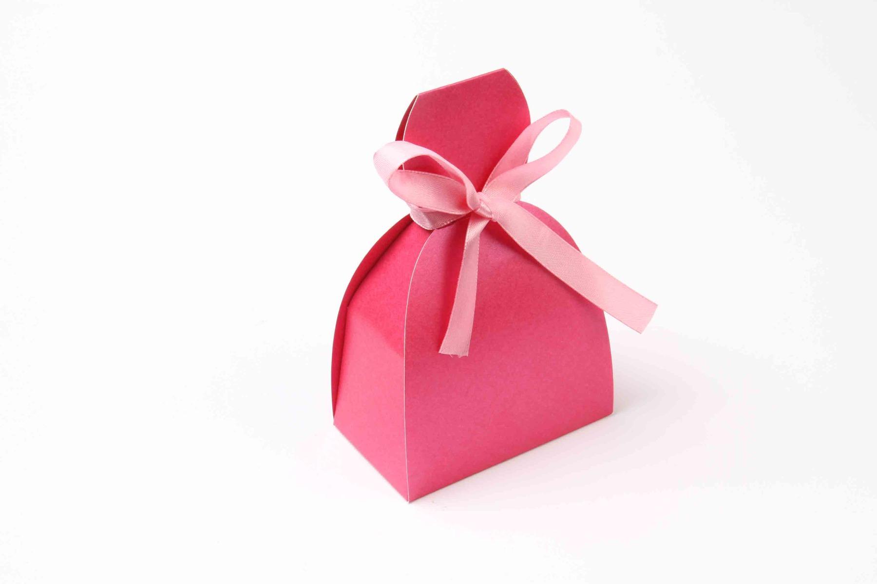 Bridal Dress Favor Box No 7 - Pink-0