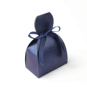 Bridal Dress Favor Box No 7 - Royal Blue-0