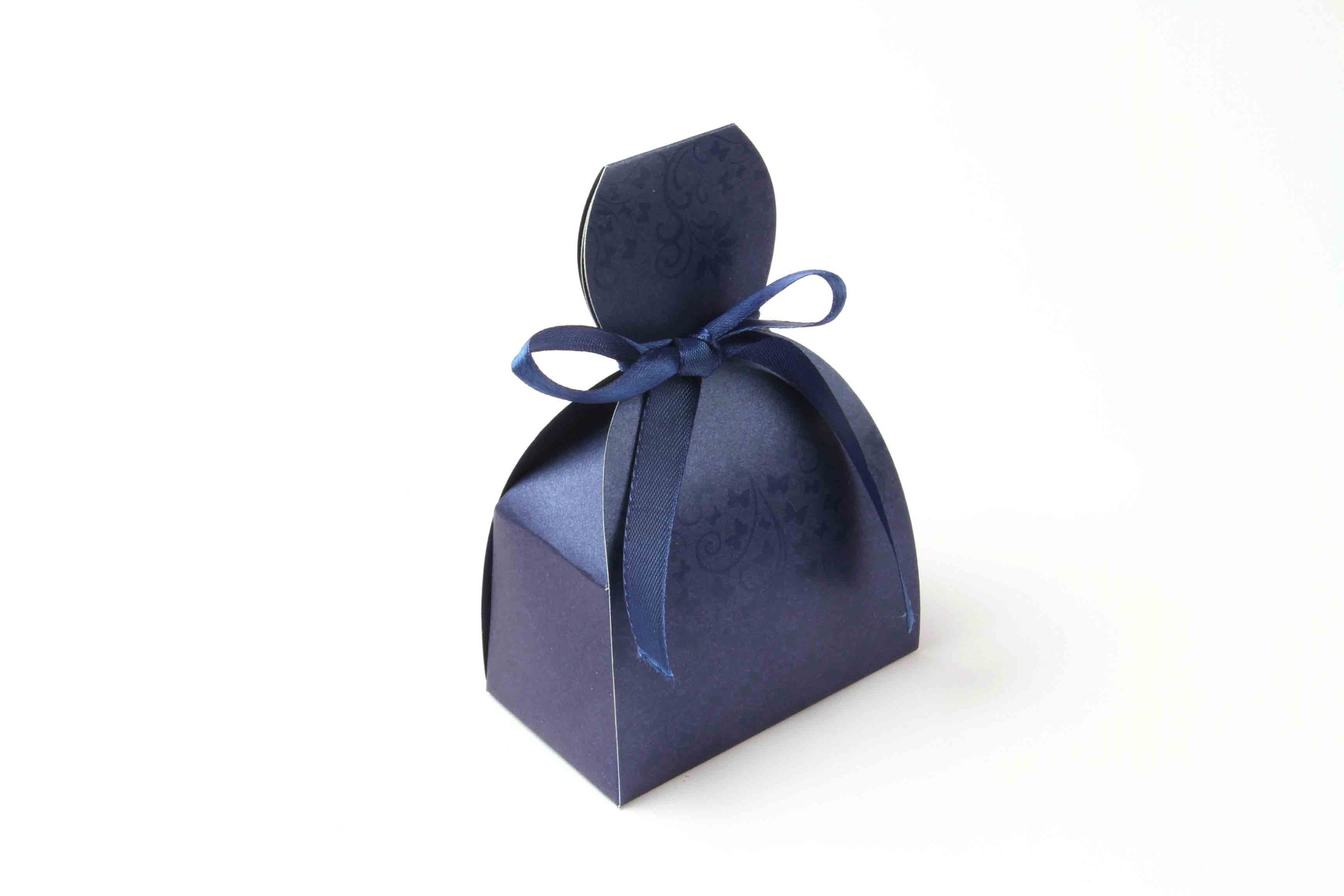 Bridal Dress Favor Box No 7 - Royal Blue-0