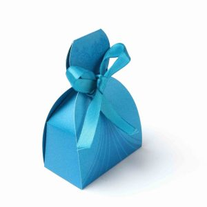 Bridal Dress Favor Box No 7 - Firoze Blue-0