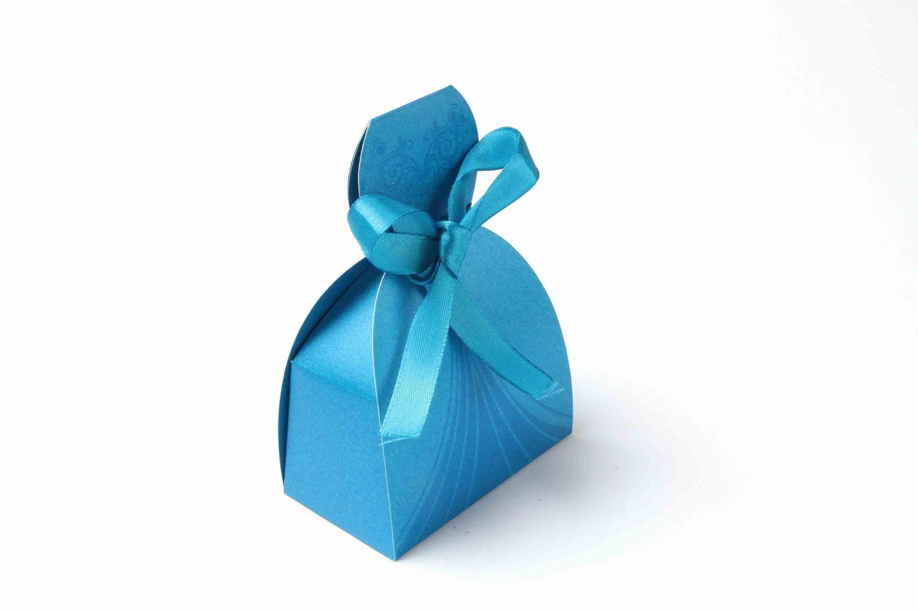 Bridal Dress Favor Box No 7 - Firoze Blue-0