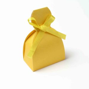 Bridal Dress Favor Box No 7 - Yellow-0
