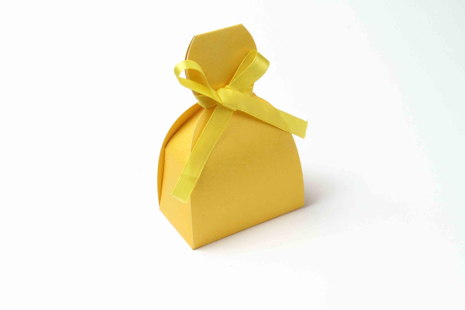 Bridal Dress Favor Box No 7 - Yellow-0