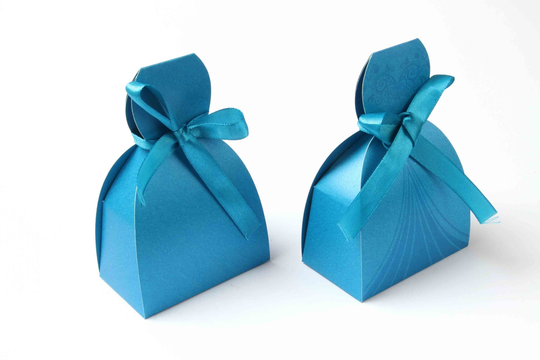 Bridal Dress Favor Box No 7 - Firoze Blue-8602