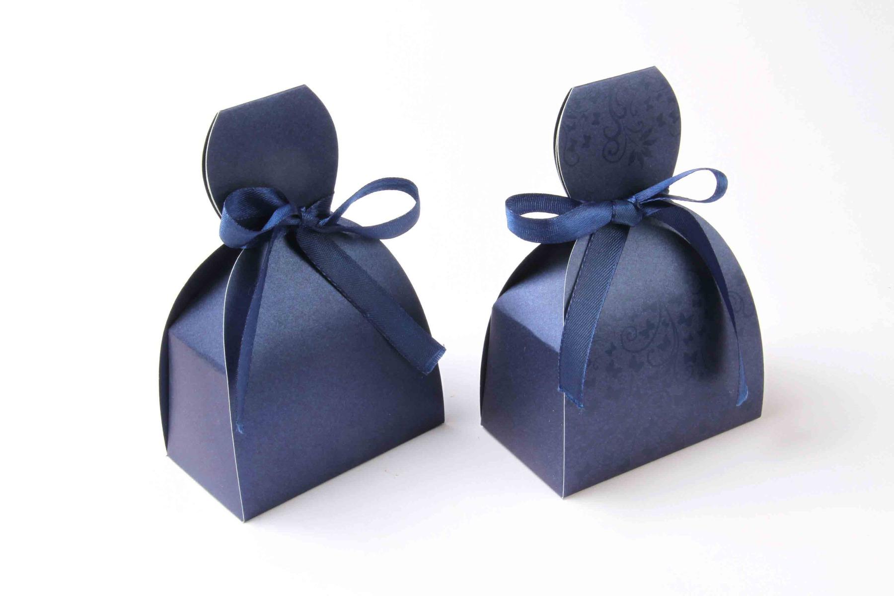 Bridal Dress Favor Box No 7 - Royal Blue-8604