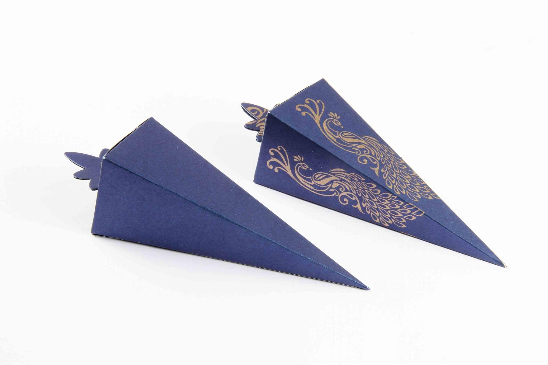 Cone Shaped Favor Box No 8 - Royal Blue-8628