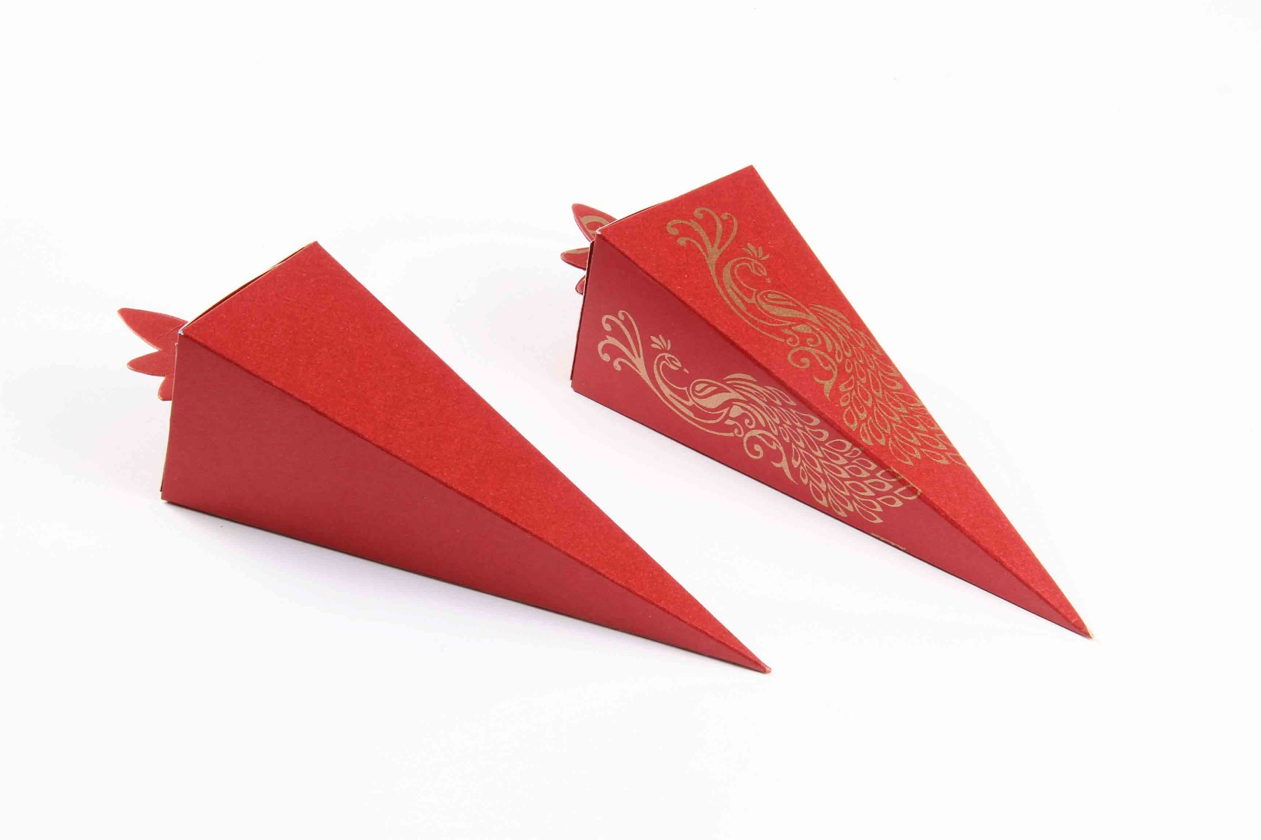 Cone Shaped Favor Box No 8 - Red-8620