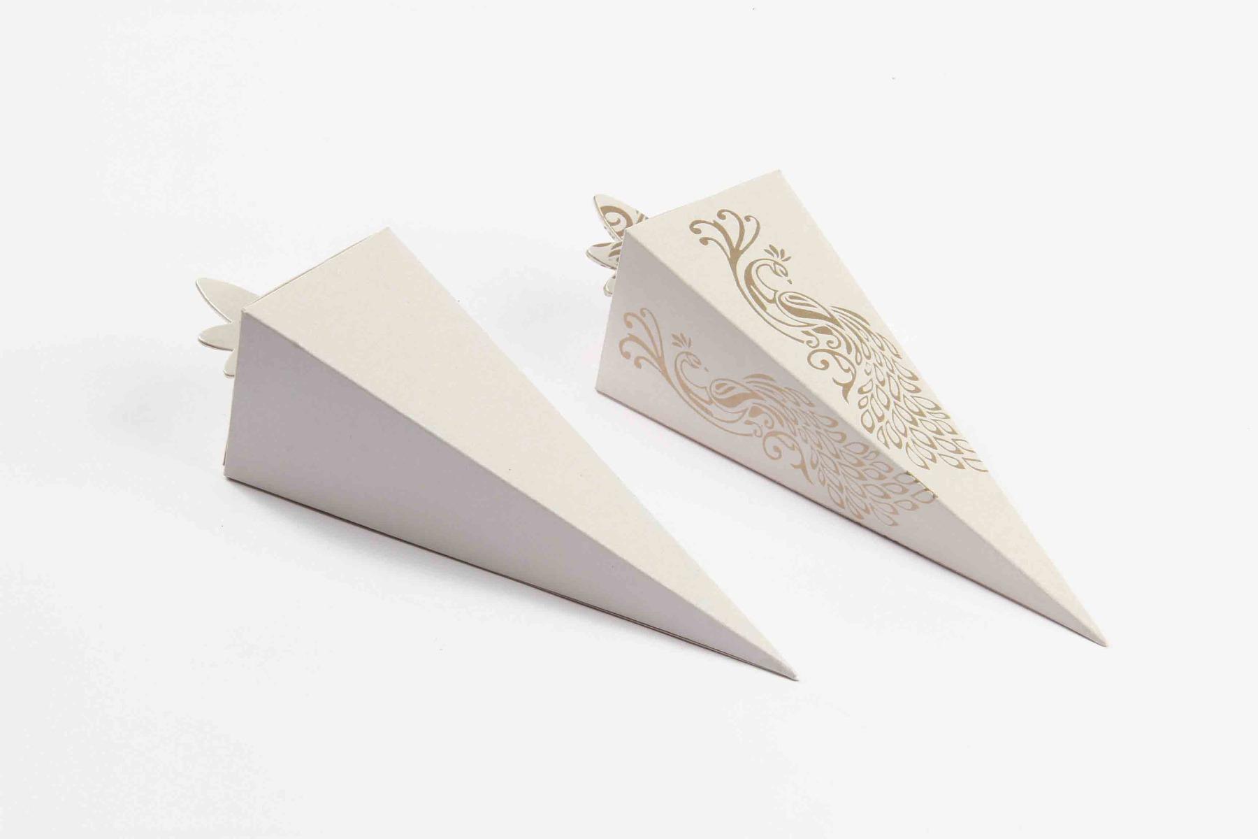 Cone Shaped Favor Box No 8 - White-8616