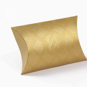 Pillow Favor Box No 9 - Golden-0