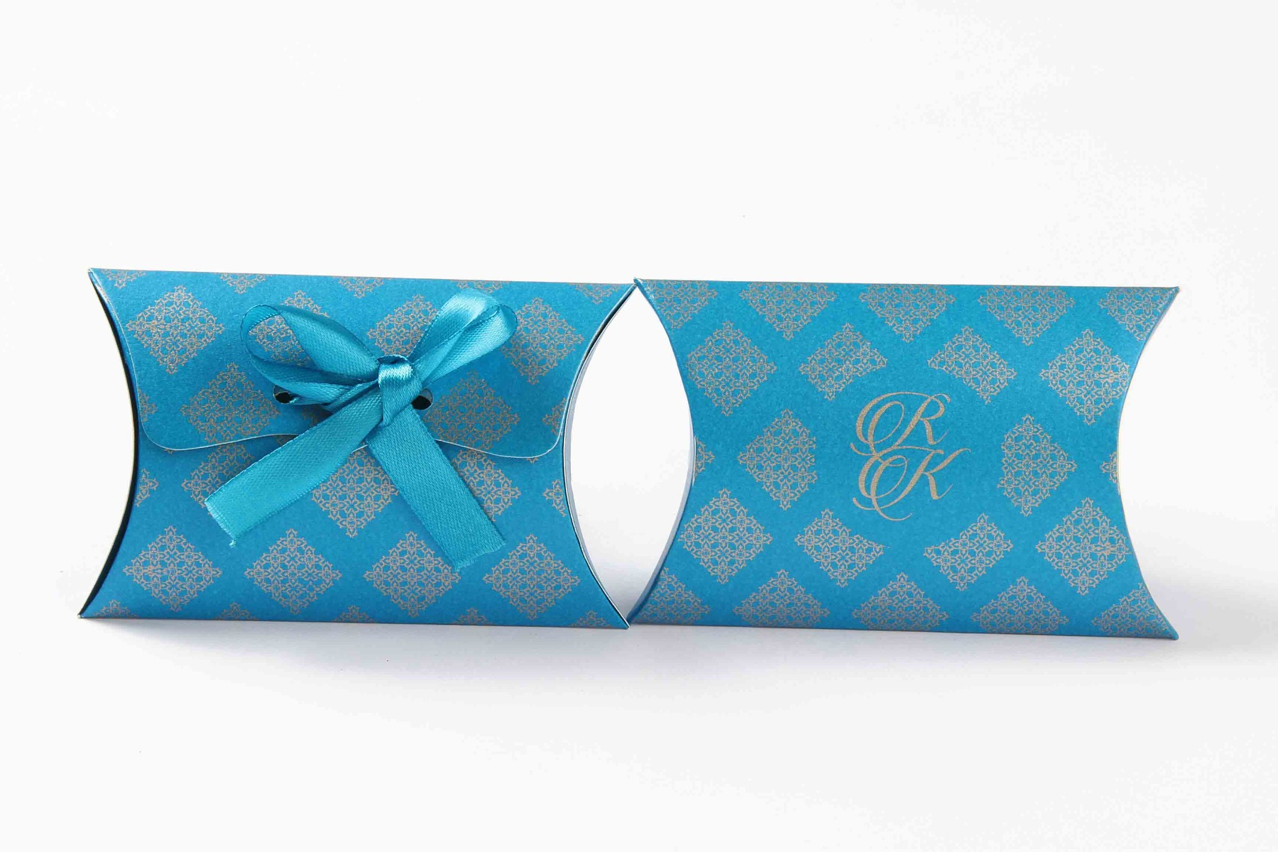 Pillow Favor Box No 9 - Firoze Blue-8659