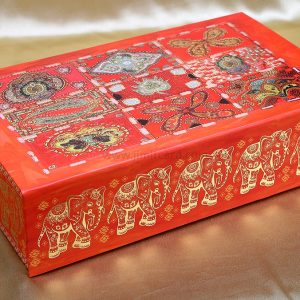 Traditional Designer Boxed Indian Wedding Card with Unique Inserts-0