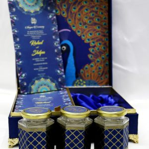 Peacock Theme Boxed Indian Wedding Card Design-0