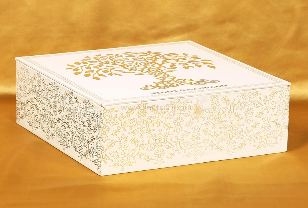 Exclusive Wishing Tree Design Boxed Indian Wedding Invitation-9269