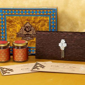 Royal Wooden Boxed Indian Wedding Invitation Card Design-0