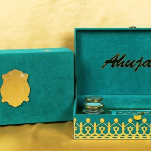 Royal Boxed Marriage Invitation Card Made from Premium Frabic-0