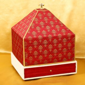 Traditional Boxed Hindu Wedding Invitation Card Design Tray Style-0